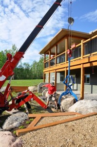 Kenco Rock-lift on landscaping